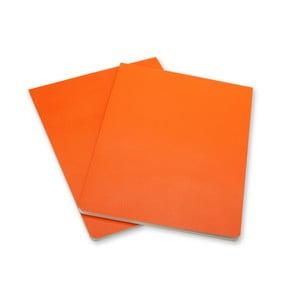 Sada 2 oranžových blokov Moleskine Volant