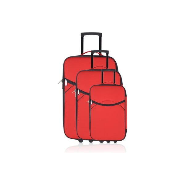 Sada 3 kufrov Valis Red