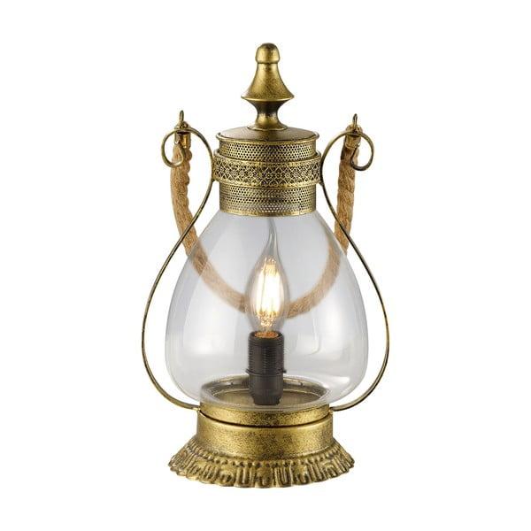 Stolová lampa Linda, mosazná