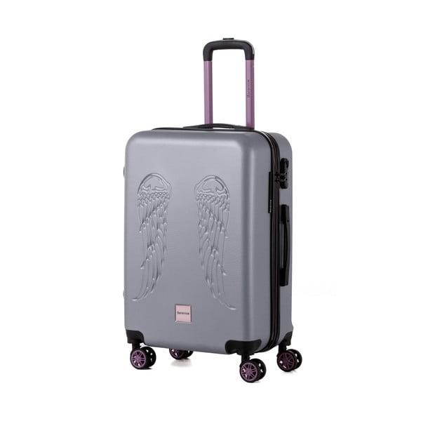 Sivý cestovný kufor Berenice Wingy, 71 l