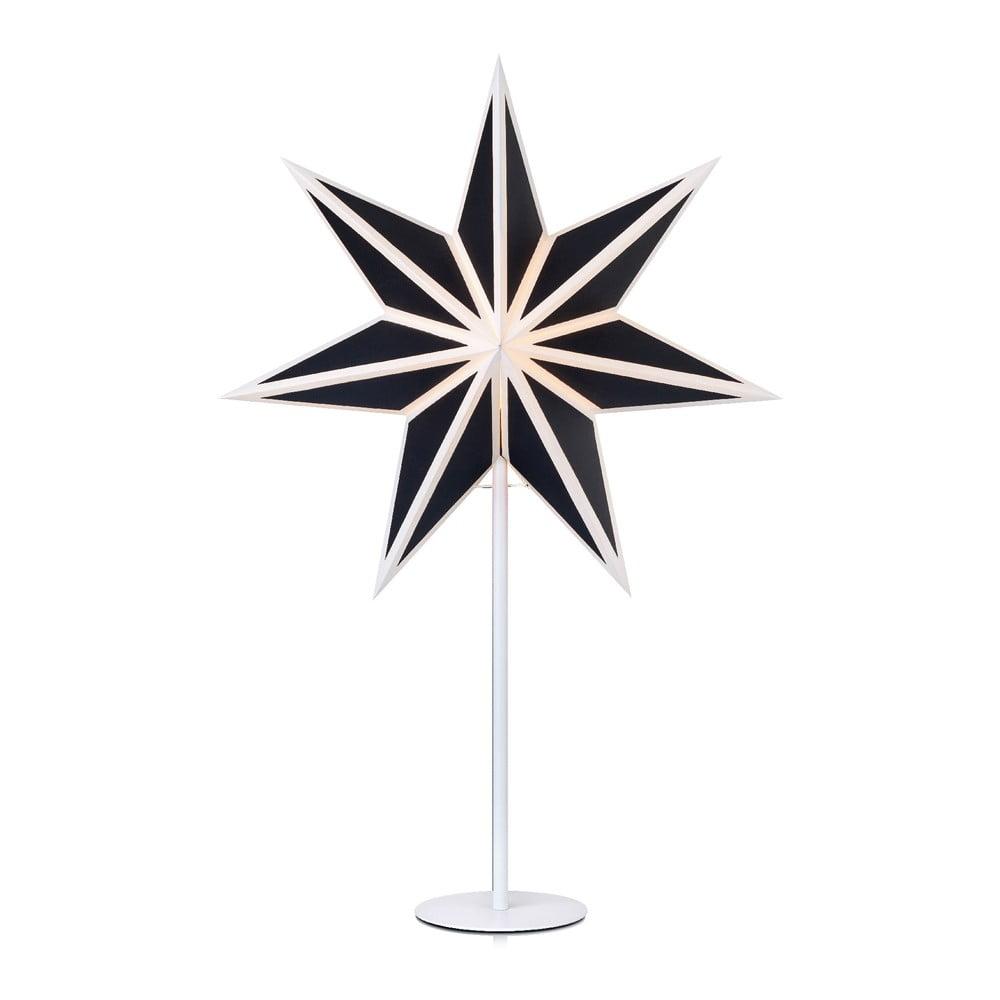 Čierno-biela svetelná dekorácia Markslöjd Adele, výška 65 cm