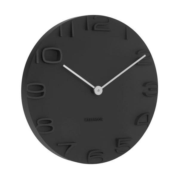 Čierne nástenné hodiny Karlsson On The Edge