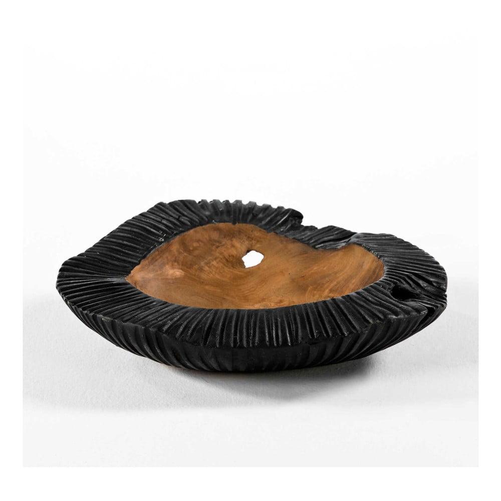 Čierna miska z dreva a keramiky Thai Natura, ⌀ 40 cm
