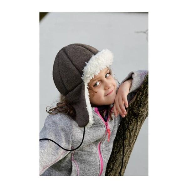 Detská hnedá čapica s ochrannými prvkami Ribcap Bieber, veľ. M