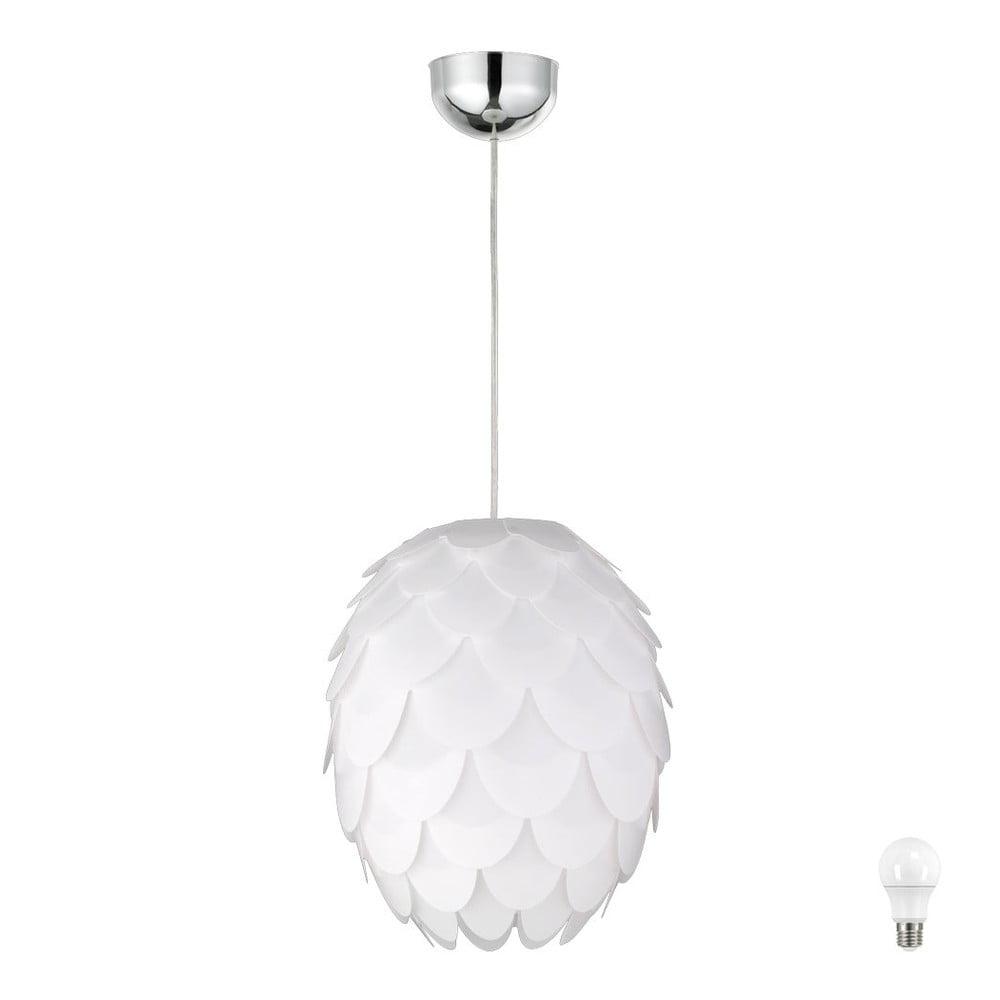 Biele stropné svietidlo Trio Pendant Choke, výška 150 cm
