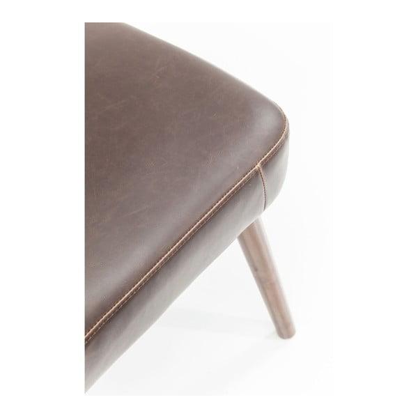 Hnedá kožená stolička s konštrukciou z brezového dreva Kare Design Filou