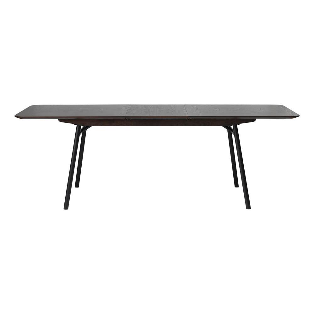 Čierny rozkladací jedálenský stôl Unique Furniture Latina