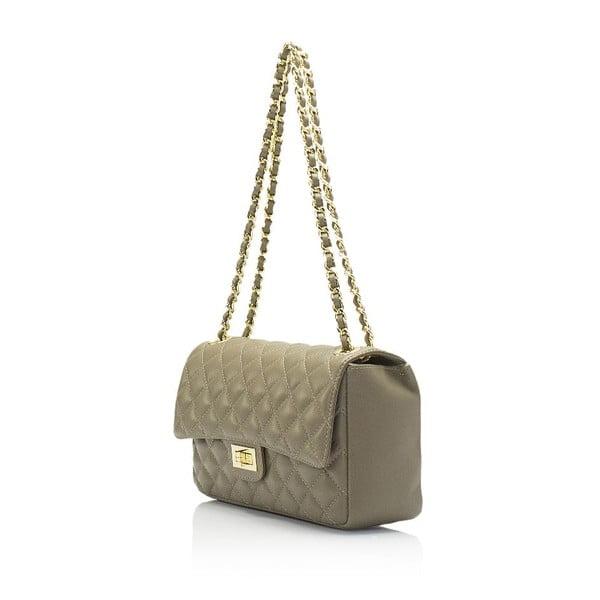 Béžová kožená kabelka Markese Nappa