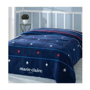Tmavomodrá deka z edície Marie Claire Carte, 200×220cm