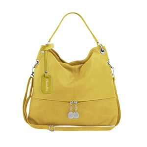 Žltá kožená kabelka Maison Bag Evelyne