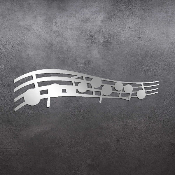Dekoratívne zrkadlo Music Notes