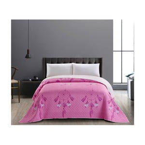 Obojstranný ružovo-biely pléd z mikrovlákna DecoKing Sweet Dreams, 240×260 cm