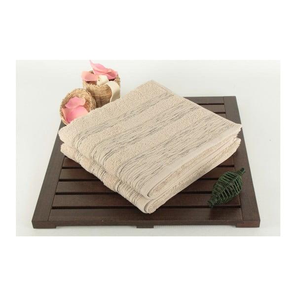 Sada 2 uterákov Cizgili Brown, 50x90 cm