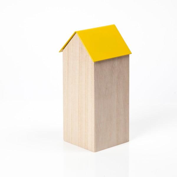 Žltý úložný box House Large