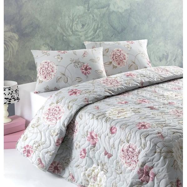 Sada prešívanej prikrývky na posteľ a dvoch vankúšov Single 313, 160x220 cm
