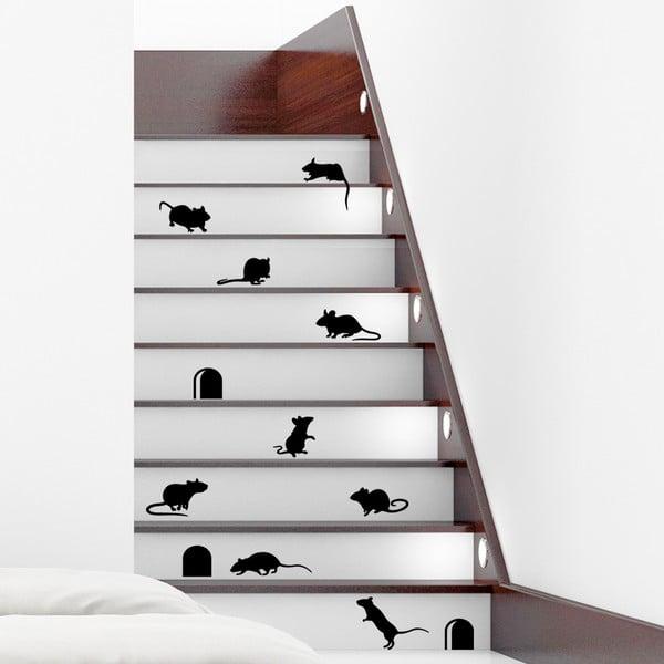 Sada 12 samolepiek Ambiance Funny Stairs