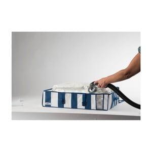 Modro-biely úložný box s vákuovým obalom Compactor Excellence, objem 145 l