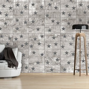 Tapeta v rolke Bimago Concrete Stars, 0,5 × 10 m