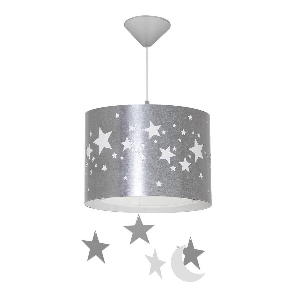 Sivé závesné svietidlo Glimte Stars Big