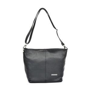 Čierna kožená kabelka Luisa Vannini Frahia