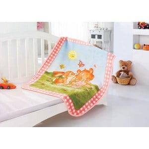 Detská deka Baby Rabbit, 100x120 cm