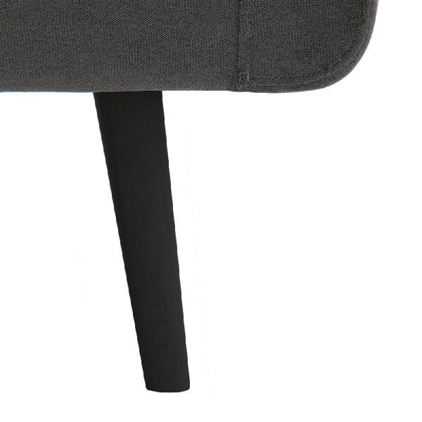 Svetlosivé kreslo VIVONITA Sondero, čierne nohy