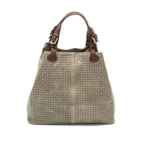 Hnedá kožená kabelka  Isabella Rhea no. 858