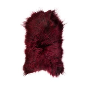 Tmavočervená ovčia kožušina s dlhým vlasom Arctic Fur Ptelja, 90 × 60 cm