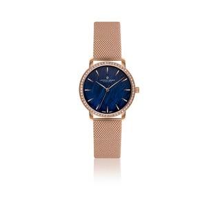 Dámske hodinky s ružovozlatým remienkom z pravej kože Frederic Graff Dita