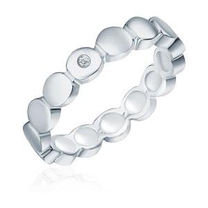 Strieborný prsteň s pravým diamantom Tess Diamonds Argi, veľ. 52