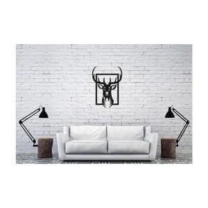Čierna nástenná dekorácia Oyo Concept Deer, 40×60 cm