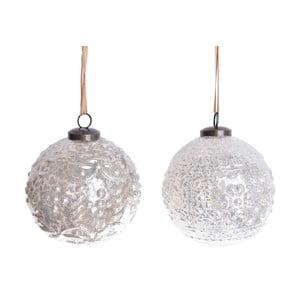 Sada 2 béžových sklenených závesných dekorácií Ewax Fairy Decor