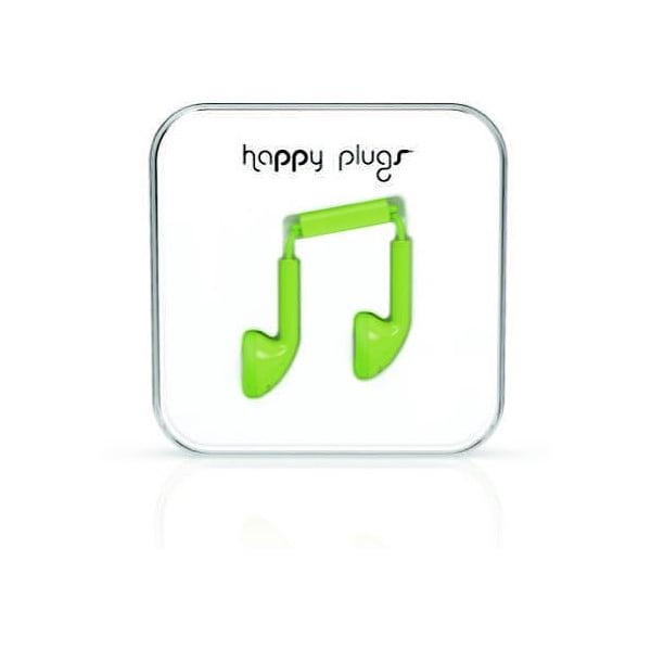 Slúchadlá Happy Plugs, zelené