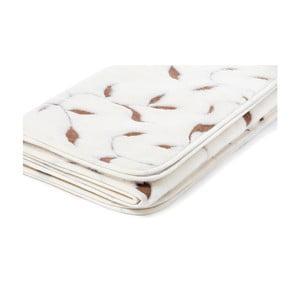 Biela vlnená deka Royal Dream Merino Wool Quilt Leaf, 160×200cm