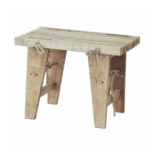 Lavička zo sivého jaseňového dreva EcoFurn, dĺžka 60 cm