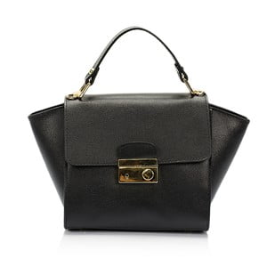 Čierna kožená kabelka Lisa Minardi Alice