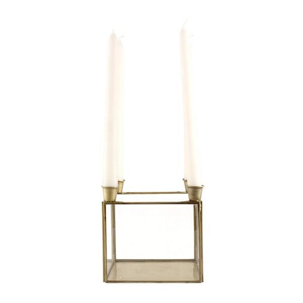Stojan na 4 sviečky Antique Brass