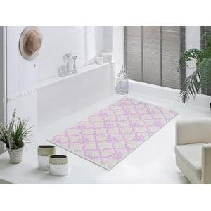 Staroružový odolný koberec Vitaus Scarlett, 80x150cm