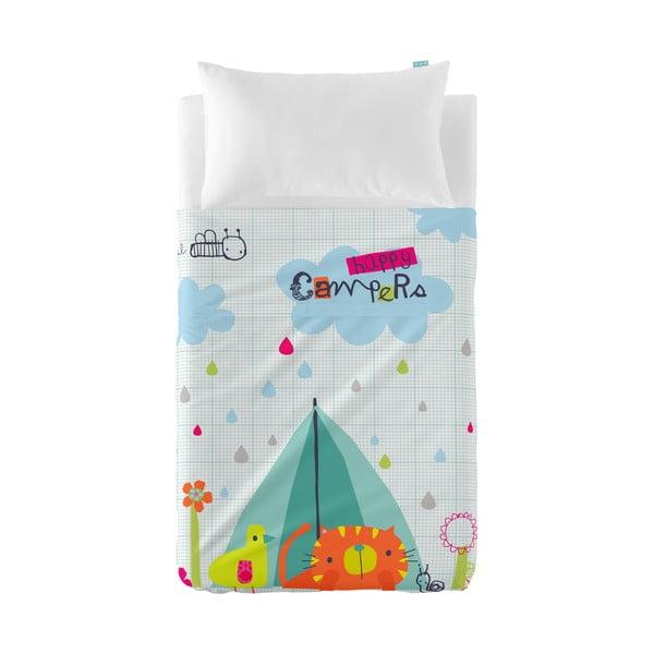 Detská prikrývka a obliečka na vankúš Baleno Happy Campers, 120×180 cm