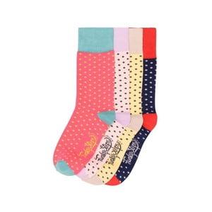 Sada 4 párov farebných ponožiek Funky Steps Dotty, veľ. 35-39
