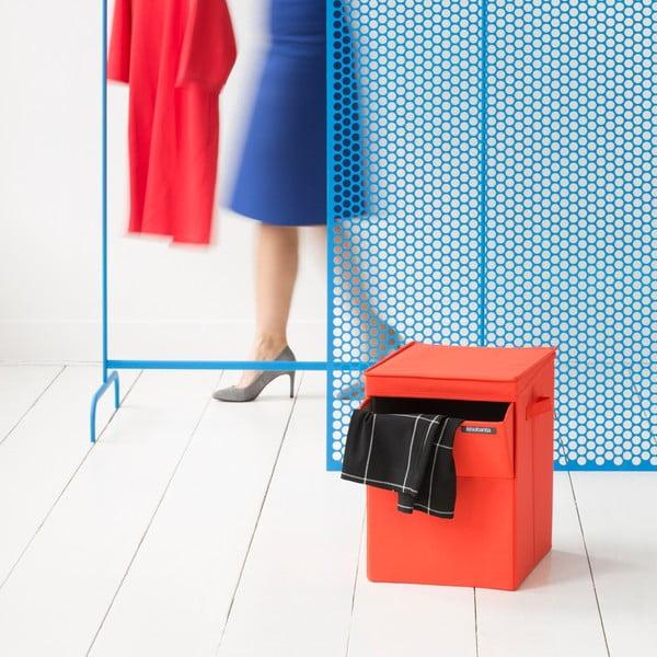 Červený skladací box na bielizeň Brabantia Hit Red, 35l