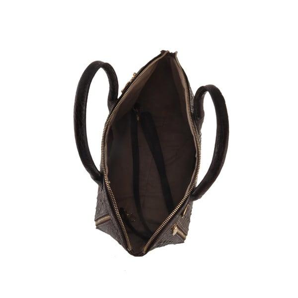 Kožená kabelka Emilio Masi Nunki, čierna
