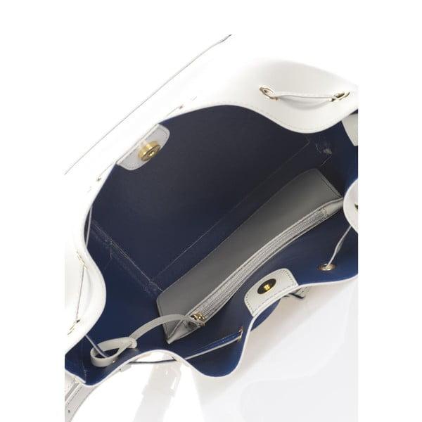 Sivá kožená kabelka Krole Klara