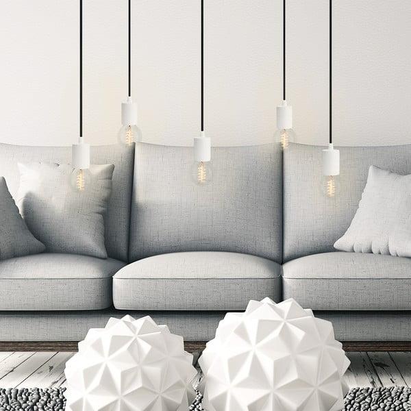 Päť závesných káblov Cero, biela/čierna/biela