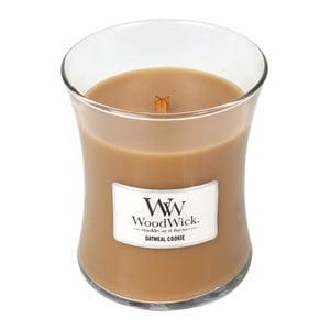 Sviečka s vôňou škorice, ovsa a mandľového mlieka Woodwick Ovsené sušienky, doba horenia 60 hodín
