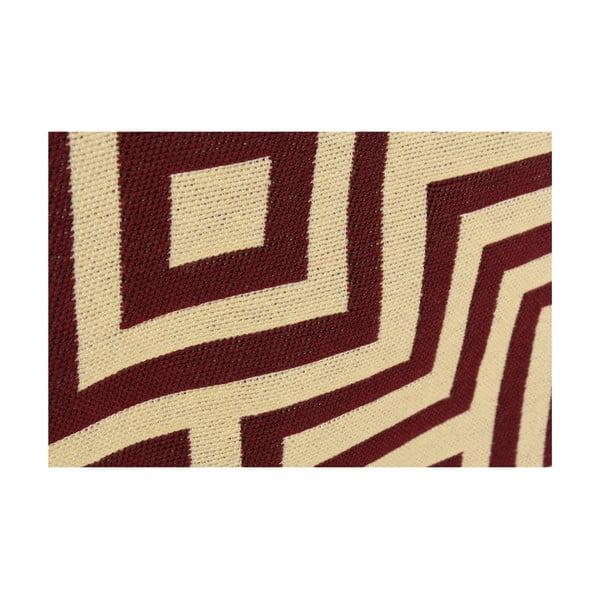 Červený koberec Ya Rugs Kare Claret, 60x90cm