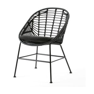 Čierna stolička Thai Natura Cushion