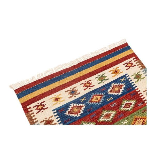 Ručne tkaný koberec Kilim Dalush 008, 90x60 cm