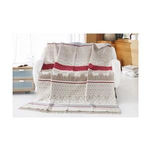Deka s prímesou bavlny Aksu Bianna, 200 × 150 cm