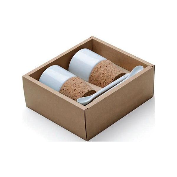 Darčekový set hrnčekov s korkovým puzdrom Agreable